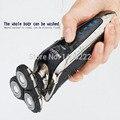 3D Hombres máquina de afeitar Eléctrica Recargable Lavable máquina de Afeitar 3 cuchillas Pelo clipper Trimmer Barba máquina de afeitar de corte para los hombres las mujeres QST