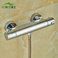 Chrome Polish Thermostatic Mixer Body Wall Mounted Brass Shower Fittings