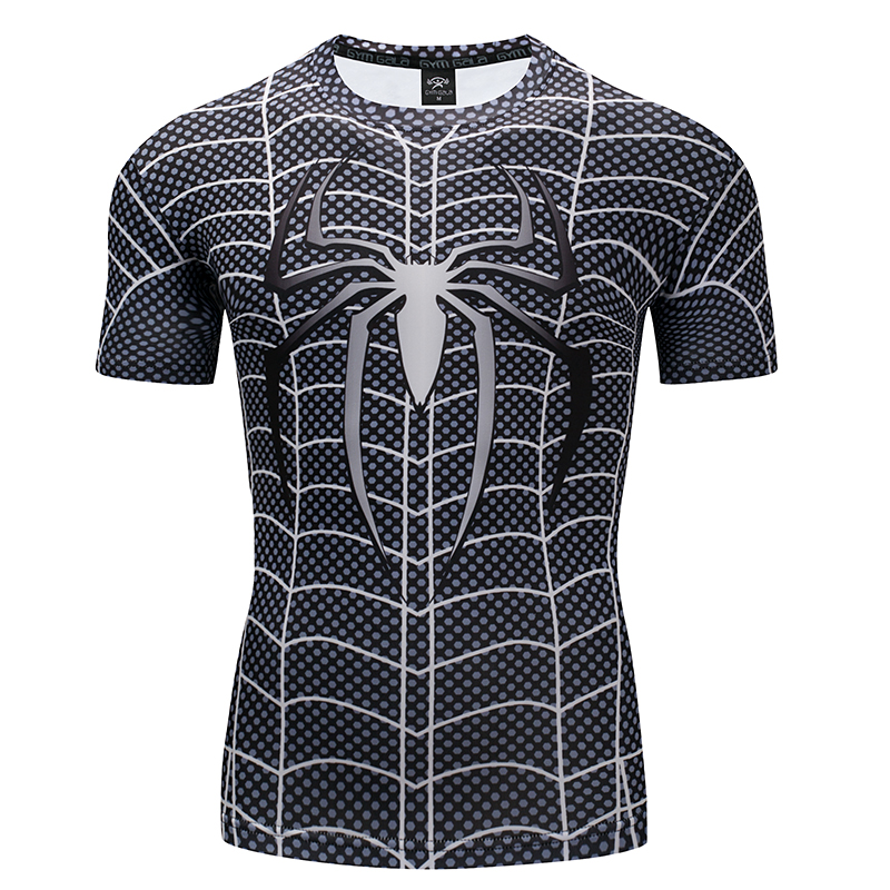 Venom Spider-man 3D Printed   T  -  shirts   Fit Teen Compression   Shirt   Cosplay Short Sleeve   T     shirt   Fitness Clothing Male Crossfit Tops