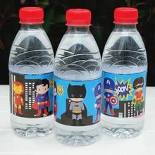 12 Pcs Super Hero Superman Hero Water Bottle Label Bar Kids Birthday Party Supplies