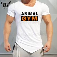 Brand Animal Gyms Clothing Fitness T Shirt Men Bodybuilding Shirt Muscle Fit Tshirt Compression Tee Shirt