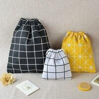 MICCK Tragbare Kordelzug Taschen Baumwolle Handtasche Lagerung Taschen Reise Kleidung Schuhe Lagerung Kleinigkeiten Organisation Kleidung Tasche