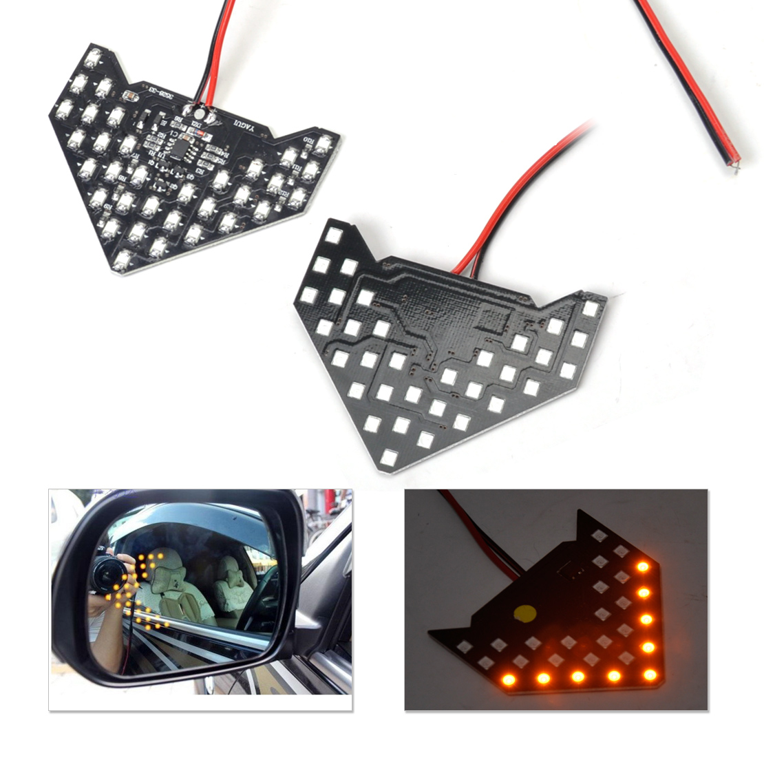 DWCX 2pcs 33 LED Rear View Side Mirror Turn Signal Light For Ford focus VW Golf BMW E46 E90 Audi A4 Nissan Qashqai Kia Rio Cruze комплект адаптеров ford focus 1 audi a4 до 2000