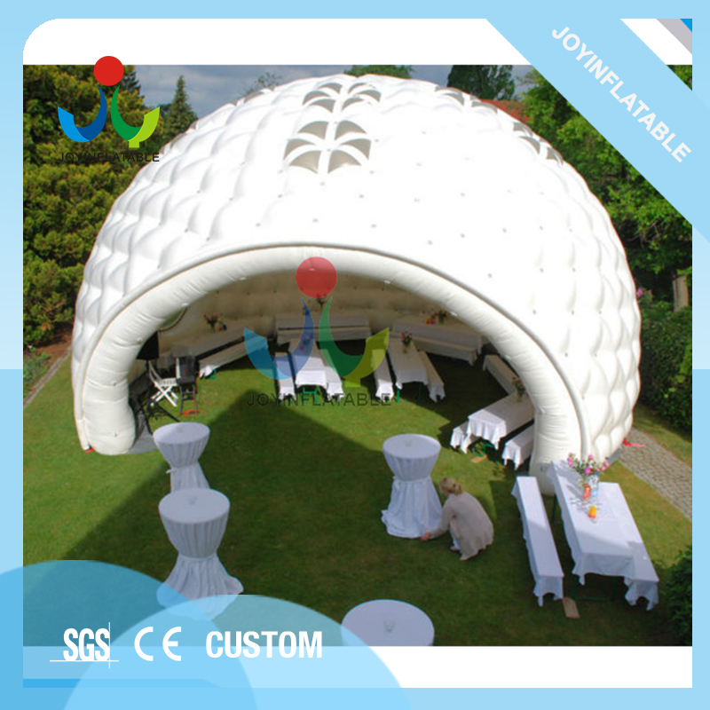 Olbrzymi nadmuchiwany namiot imprezowy na świeżym powietrzu z materiałami pcv 0,6 mm na ślub