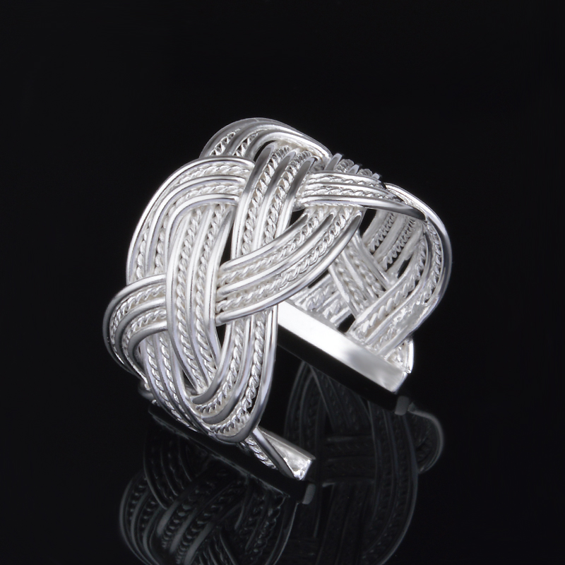 Compatible Wholesale Fashion Jewelry Silver Plated  Rings Mesh for Women Girls Gifts Ring