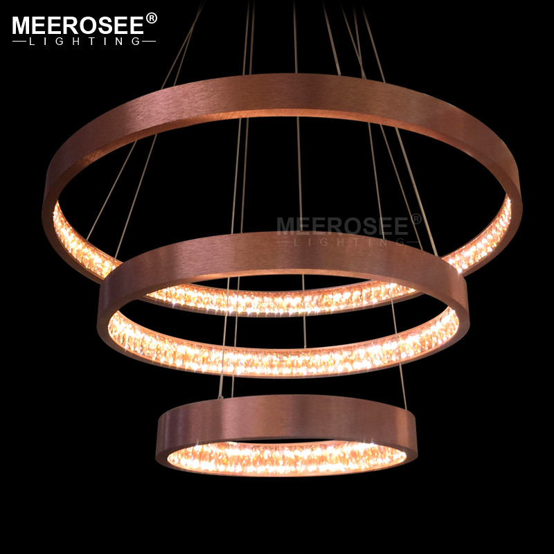 Modern LED Pendant Lights Acrylic Hanging Lamp for Restaurant Circle Luminaires Lustres Home Lighting