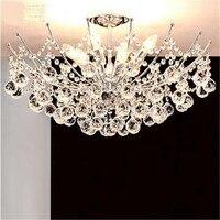Modern Fashion Luxurious K9 Crystal Led E14 Ceiling Light For Bedroom Living Room Dia 40 50cm