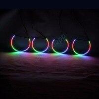 RGBW Angel Eyes Quay Vòng Lights DRL LED Cán Ánh Sáng Đa Màu Điều Khiển Không Dây Cho BMW E36/E38/E39/E46/3 Series/5 Series