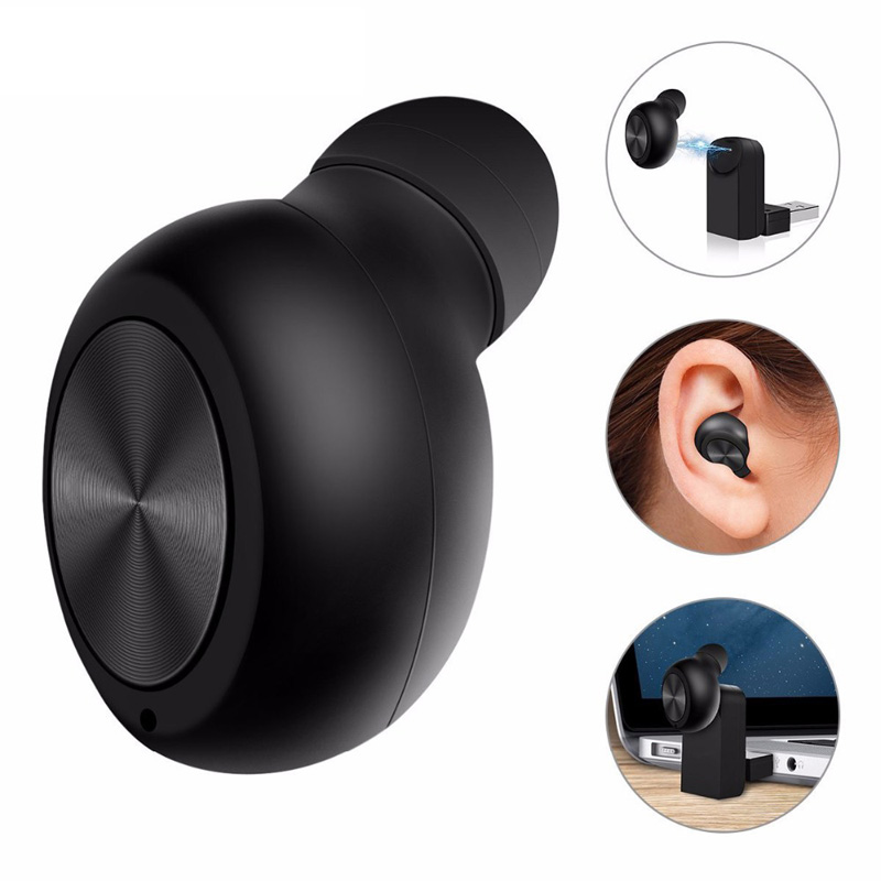 Teamyo Mini Headset Bluetooth earphone wireless earbuds Handfree with Microphone Invisible Earpiece For Driving business Phone