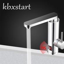 Kbxstart мгновенный нагреватель воды для ванной комнаты, кран с поворотом на 360 градусов, кухонный кран со светодиодным дисплеем, 3000 Вт, 220 В, штепсельная вилка европейского стандарта M1D