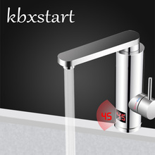 Kbxstart Bathroom Instant Hot Water Heater Tap	360 Degree Rotation Kitchen Faucet With Led Display 3000W 220V EU Plug M1D
