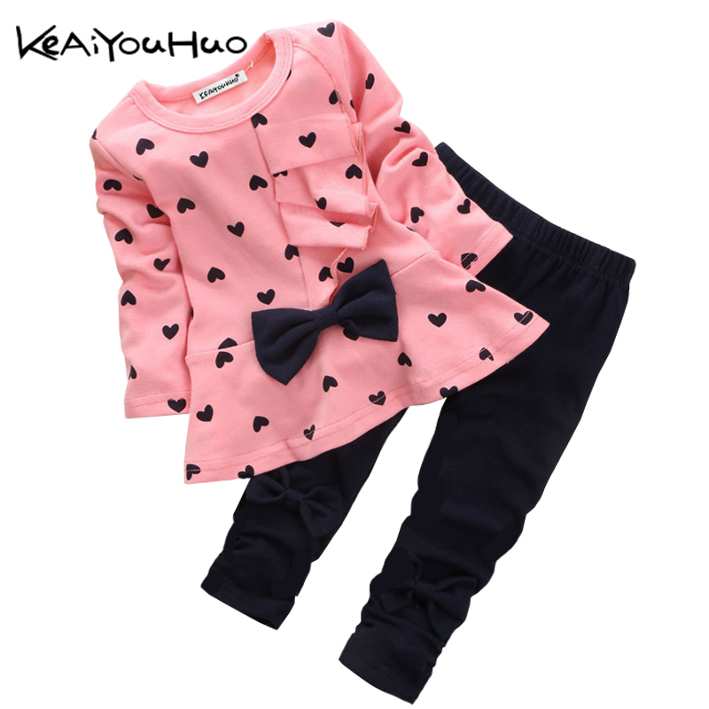 Toddler Girls Clothing Sets 2017 Autumn Winter Children Girls Clothes T-shirt+Pants Baby Christmas Outfits Kids Girls Sport Suit 2017 new children clothing sets baby girls boys winter warm clothes 2pcs cute panda velvet christmas outfits suit shirt pant