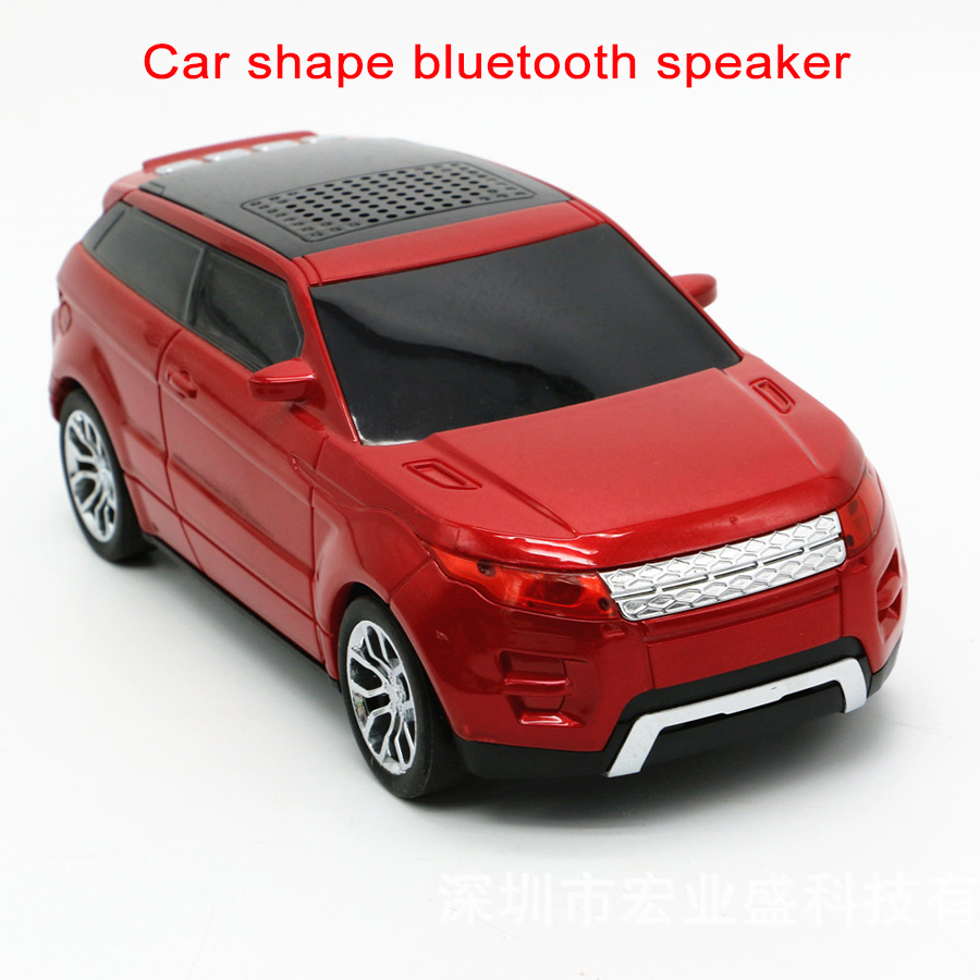 Newest Car Shape Speakers Bluetooth Portable FM Radio USB TF Card Music Player Children Kid Gifts Soundbox for PC MP3 Players