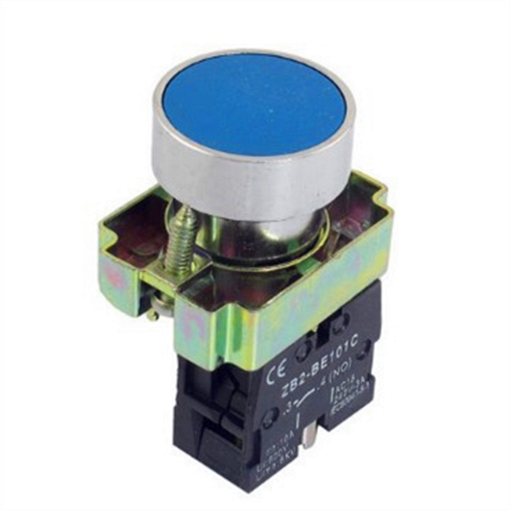 1 Pc 22mm NO N/O Blue Sign Momentary Push Button Switch 600V 10A ZB2-BA61 Free Shipping