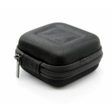 Hard Storage Bag Mini Earphone Carrying Case Portable Pouch Zipper Box original kz earphone case fiber zipper headphones hard case storage carrying pouch bag sd card box portable earphone bag