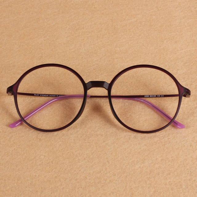 bfc739c1683 Oversized Round Ultem PEI Optical Myopia Reading Glasses Frame Tungsten  Light Unisex Men Women Student Geek