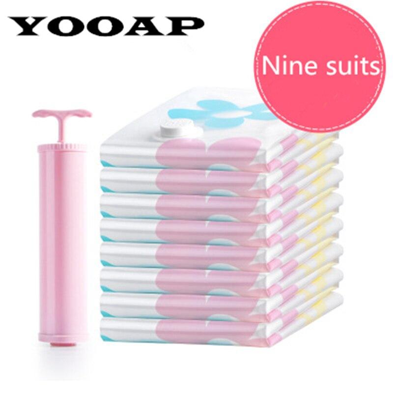 YOOAP  Thick Cotton Quilt Clothes Vacuum Compression Bag Storage 4 Extra Large Medium Plus Hand Pump