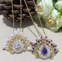 925 Silver Pendant inlaid natural pearl pendant peacock brooch and Zhuji factory direct sales