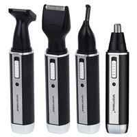 4 W 1 Akumulator Nosa Uszu Trymer Golarka Elektryczna Broda twarzy Brwi Golarka Nosa Uszu Trymer Automatyczne Usuwanie Włosów Dla mężczyźni