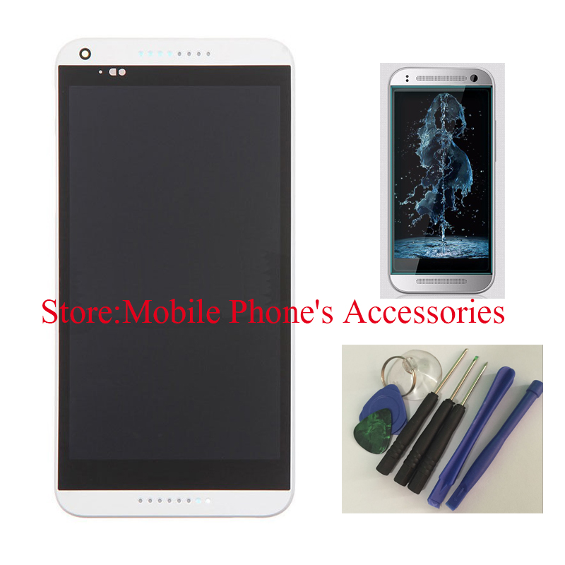 ФОТО Original 100% Test LCD Touch Screen Digitizer + Frame Faceplate Bezel For HTC Desire 816 White With Free Tools