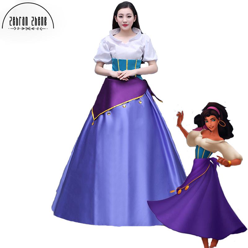 Costume Halloween Esmeralda.Us 91 91 8 Off Top Quality The Hunchback Of Notre Dame Movie Esmeralda Dress Halloween Carnival Cosplay Costume For Adult Women Costume In Movie