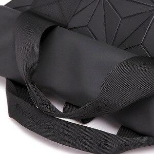 Image 5 - حقائب ظهر جديدة بتصميم هندسي مضيء للرجال والسيدات مناسبة للسفر في المدرسة وتصميم ثلاثي الأبعاد حقيبة ظهر رياضية خارجية