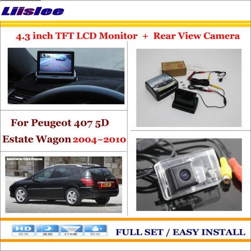Liislee pour Peugeot 407 5D break Wagon 2004 ~ 2010-voiture 4.3