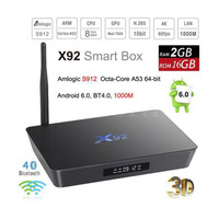 X92 3g32g Box S912 Gigabit Ethernet Eight Core 4K TV Set Top Box HD Android Player