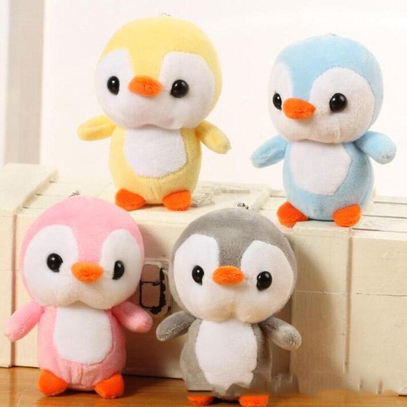 10CM Animal Penguin Plush Toy Small Pendant Doll Big Head Cartoon Bag Wedding Throwing