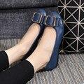 Женщины плоские каблуки моды Натуральная Кожа Плюс Размер Бренды Женской Обуви круглый носок Скольжения На весна Квартиры Мокасины вождения обувь