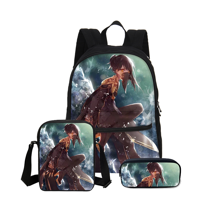 VEEVANV 3PCS/SET School Bags Children Combination Bookbag Fashion Anime Printing Bagckpack Boys Shoulder Bag Cartoon Canvas BagsVEEVANV 3PCS/SET School Bags Children Combination Bookbag Fashion Anime Printing Bagckpack Boys Shoulder Bag Cartoon Canvas Bags