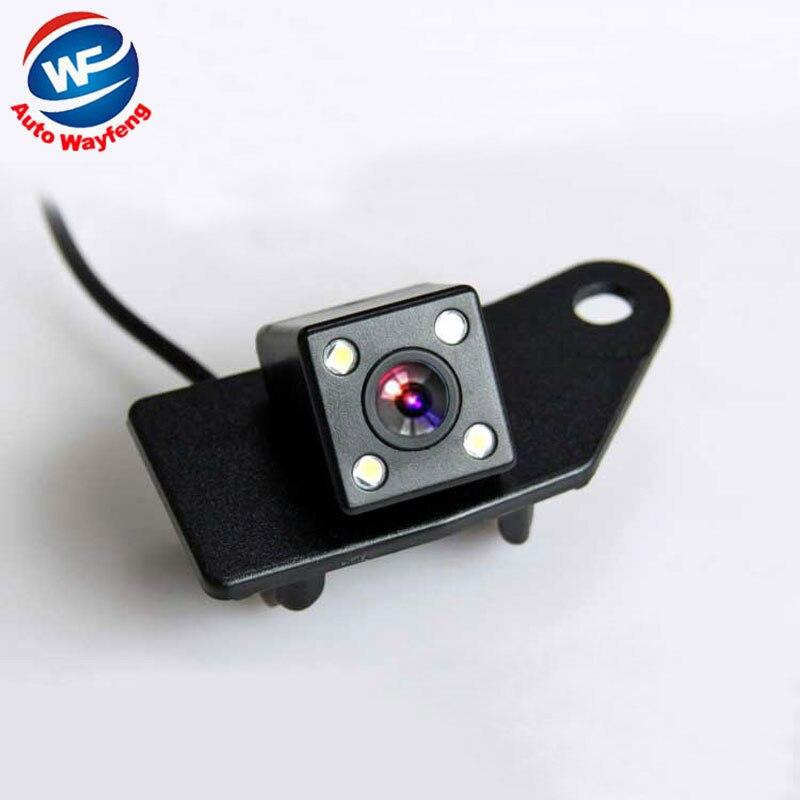 imágenes para 2016 Retrovisor Del Coche cámara de visión Trasera Inversa de Visión Nocturna 4LED cámara de copia de seguridad aparcamiento cámara para mitsubishi asx 2011 2012 2013 2014