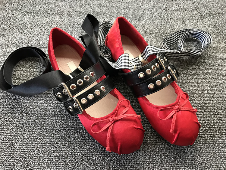 Ballet Mode blanc Femmes Ballerine Chaussures Beige Danse Ruban Noir red Hot Occasionnels Sangle Boucle Rouge Dernières B De Ceinture Appartements Bowtie red noir A bleu wIqI7f6