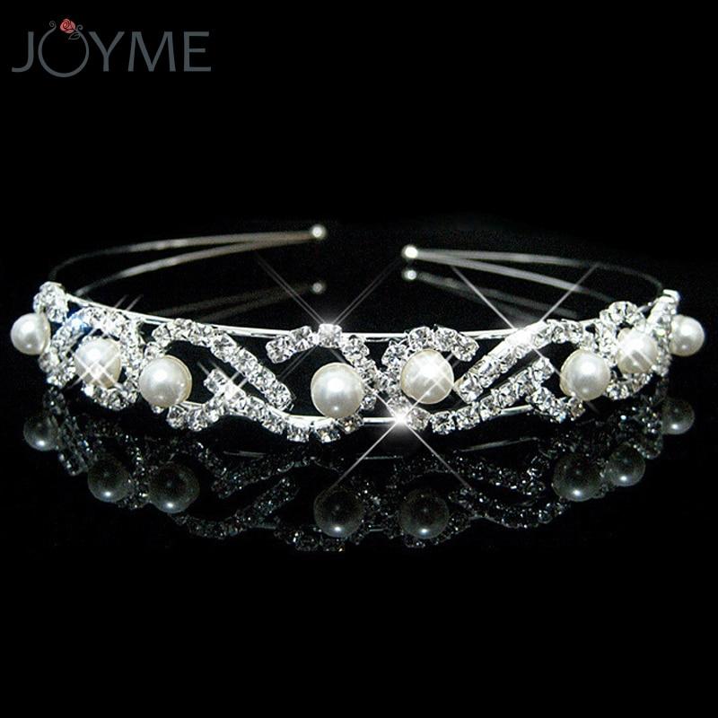 Shiny Female Girl Rhinestone Crystal Headband Bandage On His Head Bride Wedding Tiara Crown Hair Hoop Accessories Hairwear
