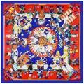 2016 Nueva Plaza Bufanda de Seda Para Las Mujeres de Lujo Nuevo Diseñador de la Marca de Las Señoras Bufandas Foulard Hopi España Cadena Caballo Pañuelo pañuelo