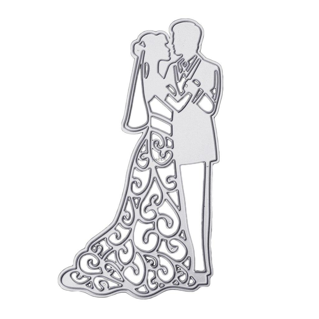 New Bride Groom Wedding Couple Cuttings Stencils