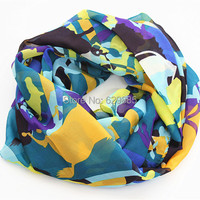 Free Shipping Fashion Lovely Horse Women Chevron Print Ring Scarf Charming Cute Female Animal Infinity Stripe