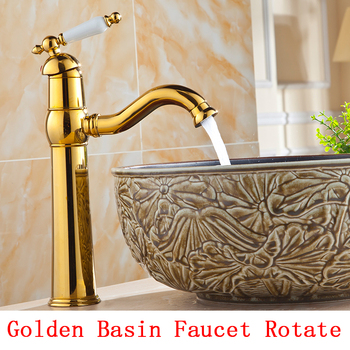 Gold bathroom wash basin faucet mixer pull out, Brass retro basin faucet antique, Copper water tap kitchen sink basin faucet