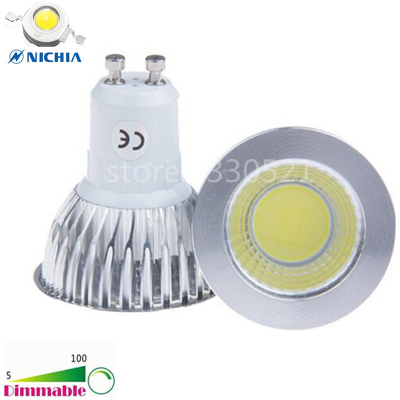 Dimmable Led Cob Spotlight E26 E27 Gu10 Gu5 3 Mr16 6w 9w: Super Bright Dimmable AC 110V 220V GU 10 6W 9W 12W LED COB