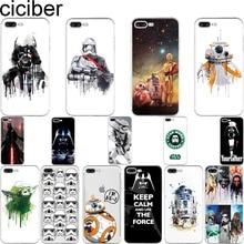 468a09c79db Ciciber R2D2 BB8 Star Wars Stormtrooper Darth Vader del teléfono del  silicón de la cubierta de los casos para Iphone 7 6 S 8 Plu.