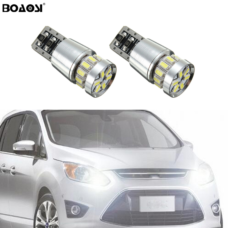 BOAOSI 2x T10 W5W Samsung Car LED Wedge Light For Ford Focus 2 1 Fiesta Mondeo 4 3 Transit Fusion Kuga Ranger Mustang KA S-max image