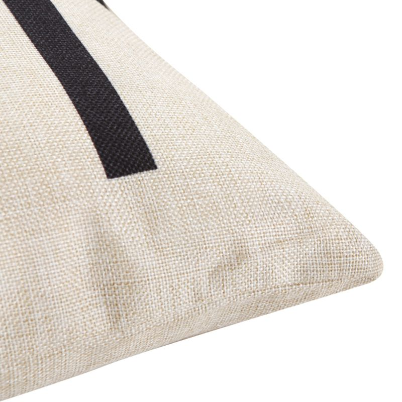 Купить с кэшбэком Yellow Black Love Pattern Cotton Linen Throw Pillow Cushion Cover Home Decor Sofa Bed Decor Decorative Pillowcase