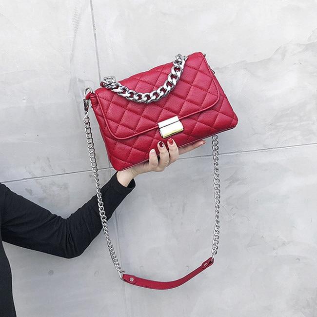 Luxury handbags women Messenger bags designer Female Totes small bolsas Ladies crossbody chain bag Diamond lattice Shoulder Bag