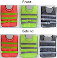Hot selling 1pc Reflective Vest High Visibility Reflective Fluorescent traffic Safety Clothing Sanitation Workers 3 Colors