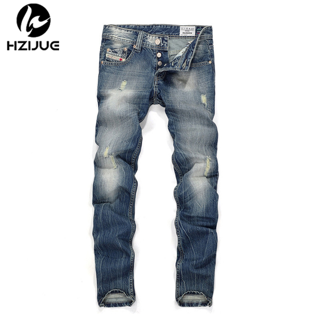 2017 Spring Summer trousers designer new Men's jeans High quality Brand luxury jeans men Fashion hole decoration boy jeans