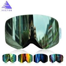 Векторные брендовые лыжные очки для мужчин и женщин мужские