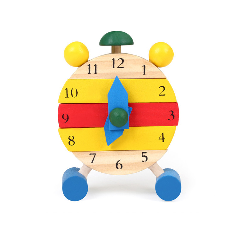 UTOYSLAND Cute Wooden Toys Assembled Disassemble Blocks Clock Early Teaching Montessori Educational Toys for Children Kids Gift