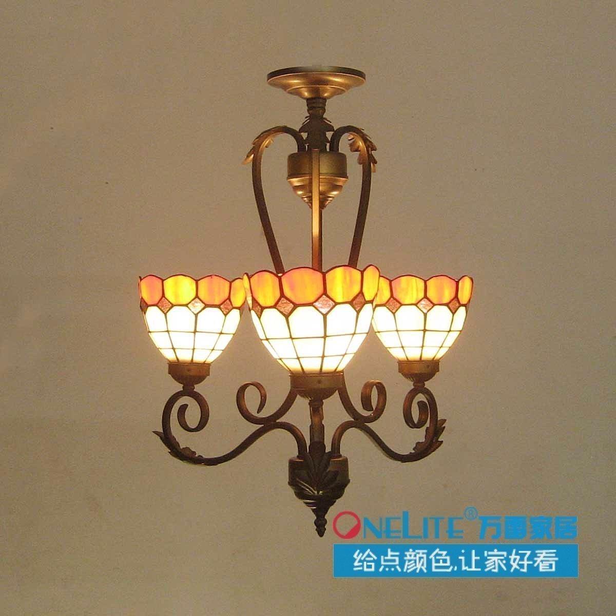 Nouvelle arrivée dorange tiffany lampe restaurant lampe pendentif lumière lumières du salon chambre lampe livraison gratuite