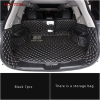 Leather trunk cargo mat For Nissan Xtrail T32 Rogue X Trail 2017 2018 Sticker car styling