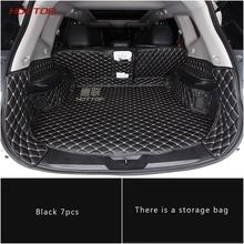 цена Leather trunk cargo mat For Nissan Xtrail T32 Rogue X-Trail 2017 2018 Sticker car styling в интернет-магазинах